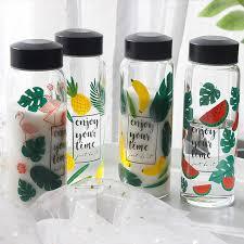 <b>New Fashion Creative</b> Flamingos Glass Water Bottle Pineapple ...