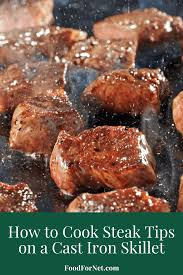 Round steaks tend to be fairly lean and not very tender, and the ultra slow cooking provided by a slow cooker helps the meat break down more, making it very tender when done. How To Cook Steak Tips On A Cast Iron Skillet Food For Net