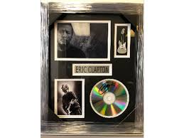 eric clapton signed framed photo