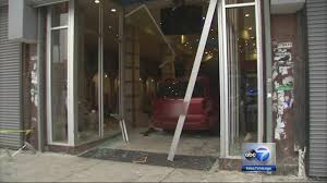 van carrying at least 15 smashes into clothing stolen from west garfield park cisco nyc at madison pulaski abc13 com