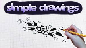 Small Picture Simple drawings 43 How to draw flower pattern YouTube