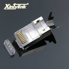 xintylink <b>rj45</b> connector rj 45 ethernet cable plug cat7 cat6a 8P8C ...