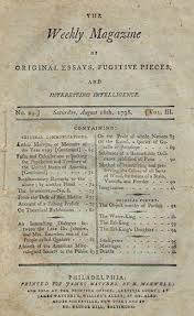 weekly magazine of original essays fugitive pieces and  view larger image