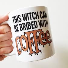 Friends horror, halloween mugs, horror movie, scary mugs, cult classic horror mugs. Handmade This Witch Can Be Brided With Coffee Mug Halloween Coffee Cup Handmade Holiday Mug