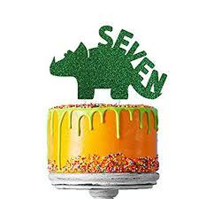 Lissielou Dinosaur 7th Birthday Cake Topper Number Seven Dinosaur