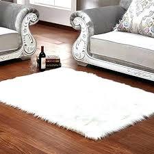 white fur rugs fuzzy bathroom rug