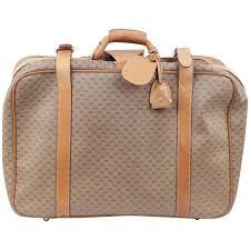 gucci vintage. gucci vintage tan gg monogram canvas cabin size suitcase travel bag gucci vintage