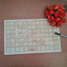 Wedding Guest Book Jigsaw Puzzle Guest Book