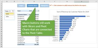 How To Hide Field Buttons In Pivot Chart Macro Buttons To Add Fields To Pivot Tables Excel Campus