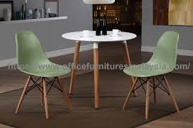 simple small white round dining table ygrtd 859w