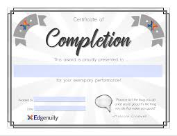 Certificate Of Completion Templates Student Certificate Templates Edgenuity Help Center