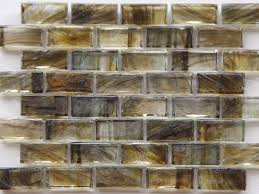 Brown Tiles Bathroom Mirabelle Collection Glass Tile Peat Brown Brick Pattern