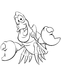 Small Picture Little mermaid coloring pages sebastian the crab Birthday idea