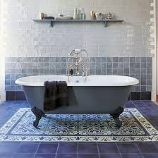 a boring bathroom can be transformed into something fresh and stylish with patterned floor tiles or one wall of pattern whether you are seeking the classic