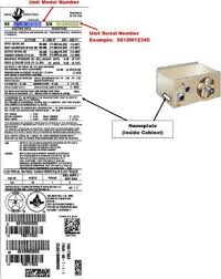 lennox unit heater. adp foa series and lennox unit heater data tag