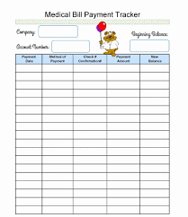 Bill Tracking Spreadsheet Template Payment Tracker Awesome Medical