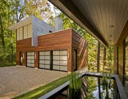 garage with office above. garage with office space above and reflecting pool at entry maxwell mackenzie g