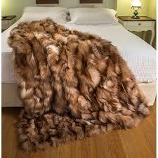 Real Mink Throw Blanket