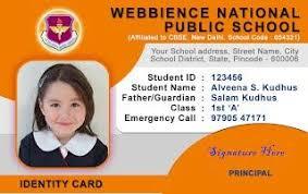 School Id Template School Id Card Horizontal Id Card Design Student Id Card