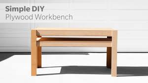 how to build a diy workbench out of plywood woodworking
