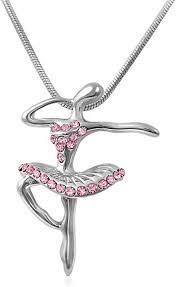 Elegant Pink Crystal Dancing Ballerina Ballet Charm ... - Amazon.com
