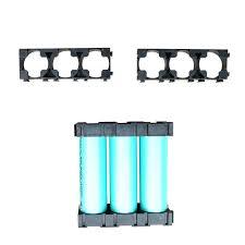 50 Pcs <b>1x3 Cell</b> Spacer <b>18650 Li-ion Battery</b> Holder Plastic ...