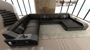 Xxl Sofa Grau Wohnlandschaft Matera Xxl U Form Design Couch