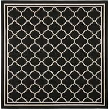 safavieh courtyard black indoor outdoor rug square