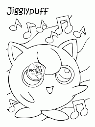Pokemon Jigglypuff Coloring Pages For Kids