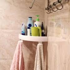 Kunststoff Saugnapf Ecke Regal Badezimmer Veranstalter Dusche Wc