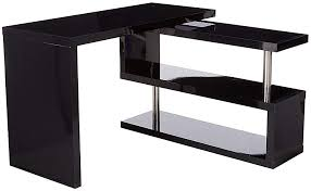 Office desk with shelf Wall Mounted This Contemporary Office Desk With Storage Including Bookshelves From Homcom Features Chic 360degree Rotating Design That Can Be Adjusted To Be Amazoncom Amazoncom Homcom 75