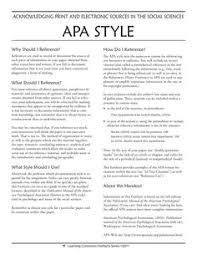 sample of apa style 13 best apa style images in 2018 apa style academic