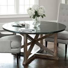 round zinc kitchen table tables design with top dining decorations 8