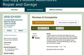 automotive repair complaints joe lopys mobile automotive repair garage thornton co 80233 yp com