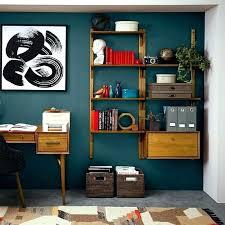 mid century modern wall shelves shelf shelving set west elm unit diy w