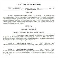Sample Joint Venture - 9+ Free Documents in PDF, Word