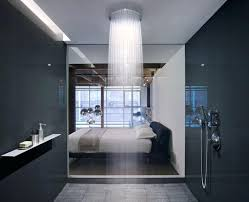 view in gallery water cascades from a large shower head rainwater rain canada clean