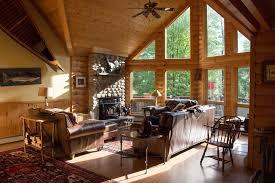 luxury log cabin style family ski lodge 15 minutes from sunday river ski resort