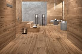 Unique Wood Tile Flooring In Bathroom View Gallery Woodgrainporcelaintilefloorwallbathroomatlas For Decor