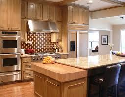 thick maple butcher block countertop for a kitchen in dallas texas
