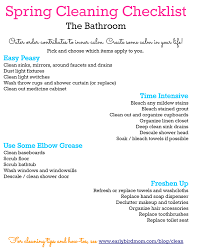 Printable Spring Cleaning Checklist The Bathroom