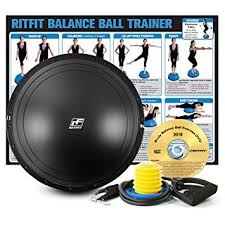 Free Exercise Ball Chart Amazon Com Ritfit Balance Ball Trainer For Yoga Fitness