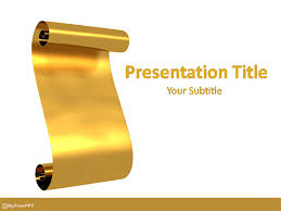 Scroll Powerpoint Template Free Golden Parchment Scroll Powerpoint Template Download