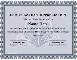 Certificate Of Appreciation Text 30 Free Certificate Of Appreciation Templates And Letters