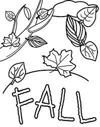 Small Picture Fall Leaves in Autumn Season Coloring Page Color Luna