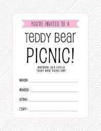 Free Printable Teddy Bear Picnic Invites Ashers First Birthday