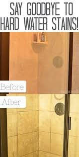 how to get hard water stains off shower doors image cabinets and