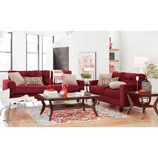 Value City Furniture Living Room West Village Sofa Red Value City Furniture