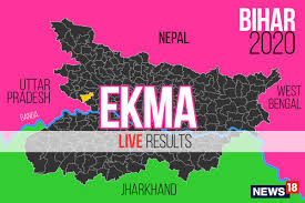 States colored by candidate leading or won. Ekma Election Result 2020 Live Updates Srikant Yadav Of Rjd Wins