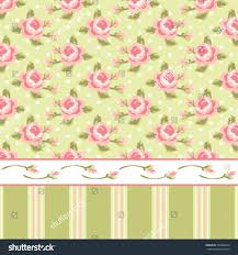 wallpaper shabby chic retro in style with roses and stripes tangerang